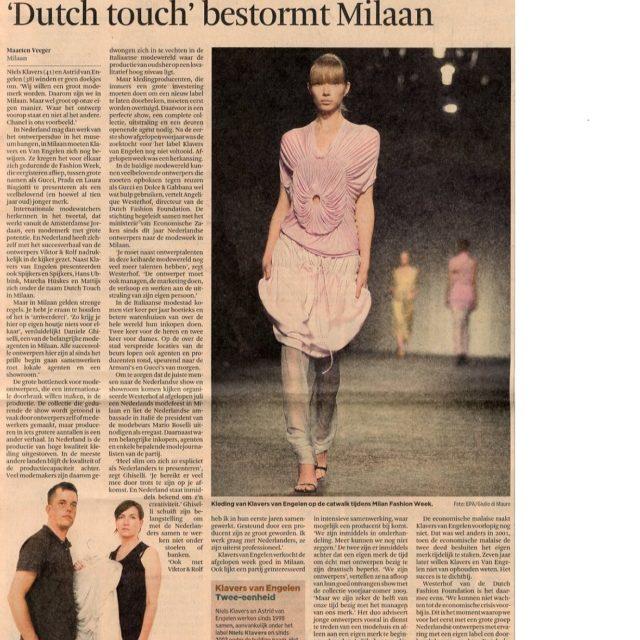 Het Financieele Dagblad - 30 sept 2008