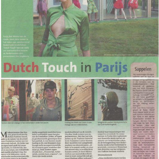 Dutch Touch Paris - Noord Hollands Dagblad - 10 juli 2005